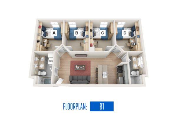 Floorplan: B1